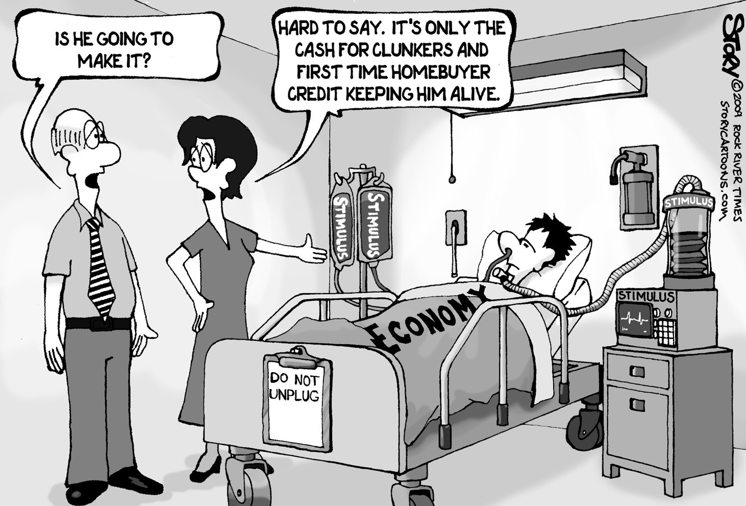 Image result for economy  on life support cartoons